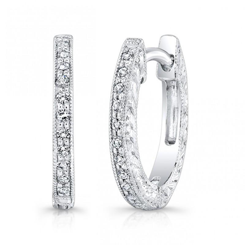 Engraved Diamond Earring.