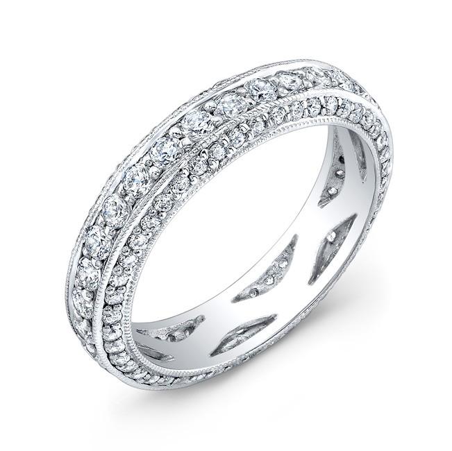 Micro Pave' Set Diamond Ring