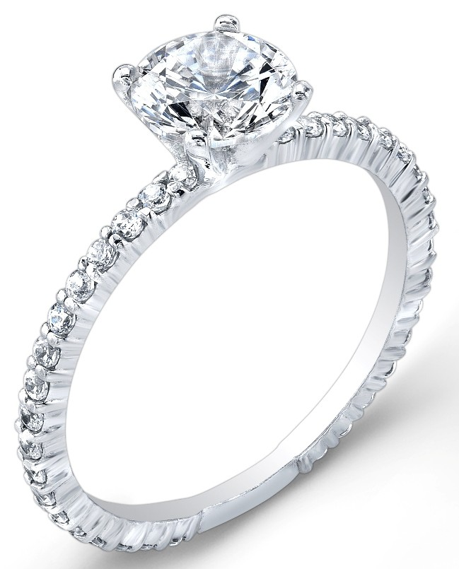 Petite Classic, Prong Set, Diamond Engagement Ring