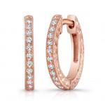 Rose Gold Diamond Earring.