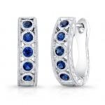 Blue Sapphire Earring.