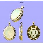 Custom Designed, Oval, Opal Pendant