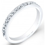 High Polished, Pave' Set Diamond Ring