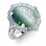 Large Oval Vintage Opal Ring