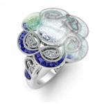 Flower Sapphire Custom Vintage Inspired