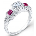 Diamond & Ruby Engagement Ring