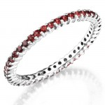 Ruby and Prong Set Eternity Ring