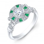 Diamond & Tsavorite Semi Mount