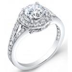 Modern Nouveau, Diamond Engagement Ring