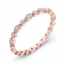 Stackable Diamond Wedding Ring