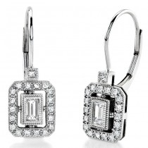 Baguette and Round Diamond Earring