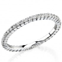 Petite Classic: Prong Set with an Eternity of Diamonds