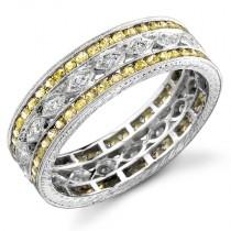 Diamond and Yellow Sapphire Ring