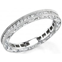 Channel Set Princess Cut Diamond Weddung Ring