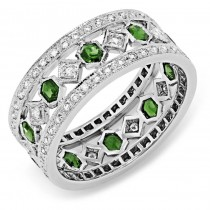 Diamond and Tsavorite Ring
