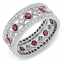 Diamond and Pink Sapphire Ring