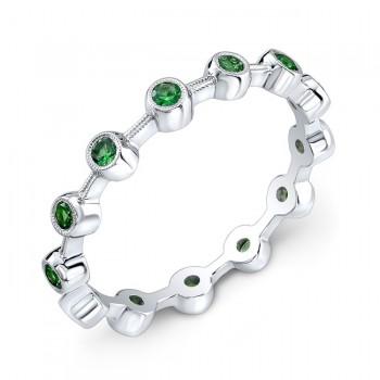 Stackable Tsavorite Ring
