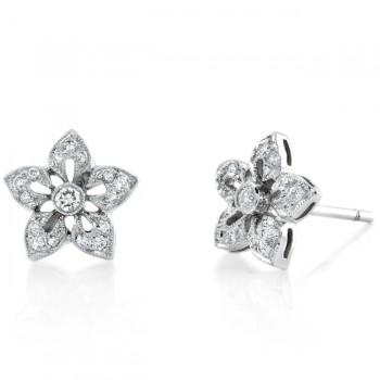 Star Flower, Diamond Earring