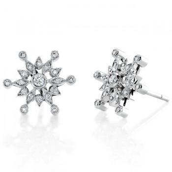 Diamond Snow Flake Earring
