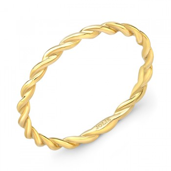 Yellow Gold Twist Band