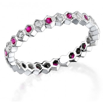 Diamond and Ruby Stackable Ring