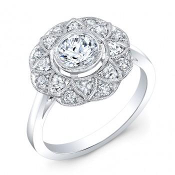 Diamond & White Sapphire Semi Mount